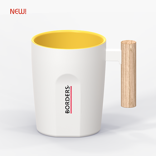 WOOD HANDLE CERAMIC MUG - MUG850